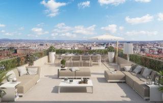 Vistas ático Torre Zaragoza